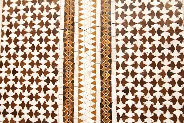 Brown and white Morrocan tiles