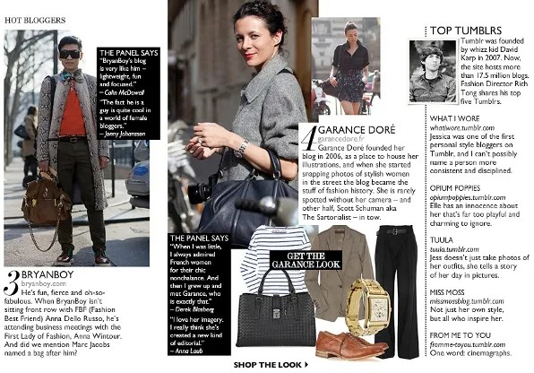 Net-a-Porter Magazine Blog Power List