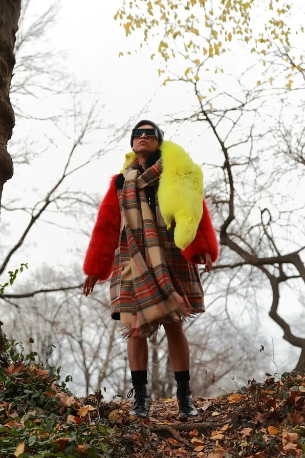 Bryanboy in Sonia Rykiel fall/winter 2011 in New York