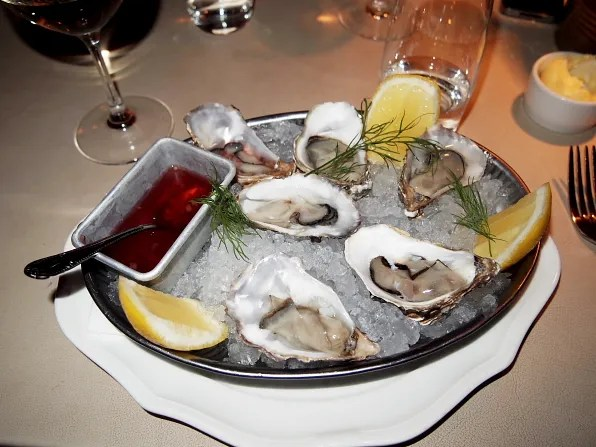 Oysters at Le Bar Rouge, Stockholm