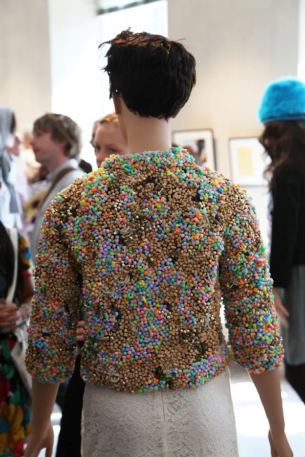 Peter Jensen 'Muses' Exhibition - beaded jacket