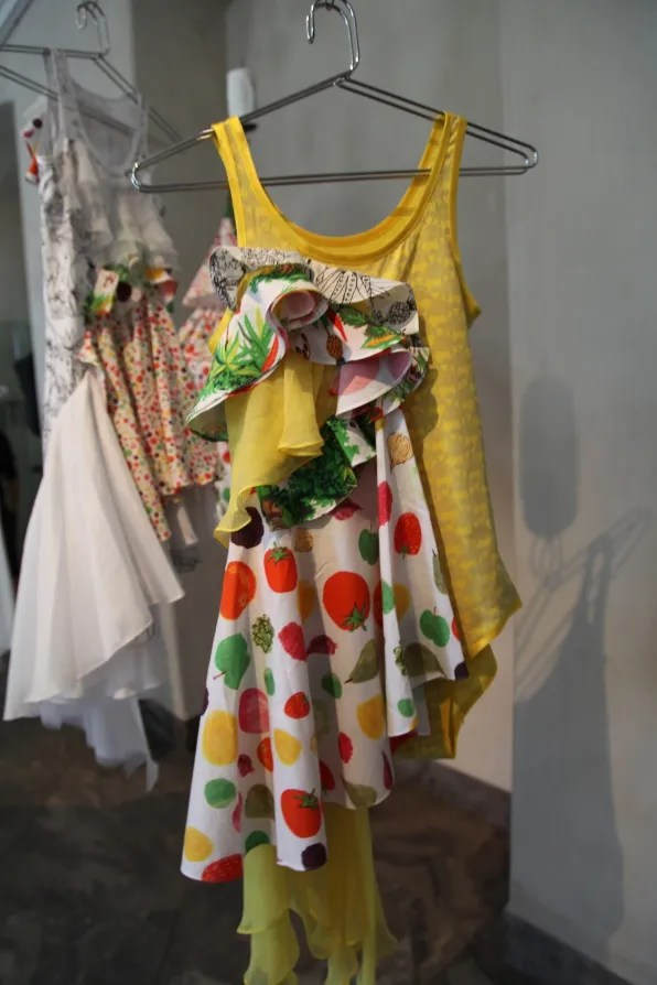 Peter Jensen 'Muses' Exhibition - vegetable print dress