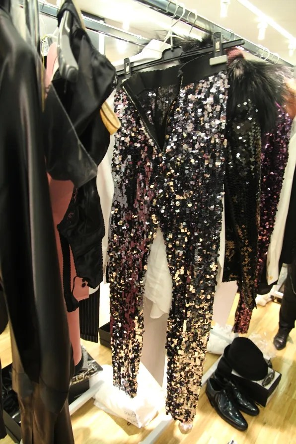 Silver Dolce & Gabbana sequined leggings from fall/winter 2011 collection