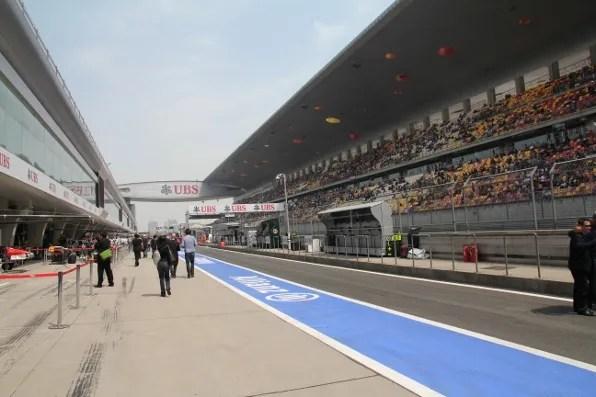 Formula 1 Shanghai Pit Lane Walk About