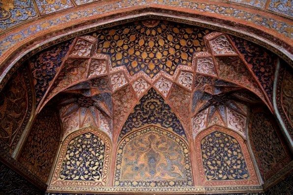 Ceiling of Akbar's Tomb in Sikadra