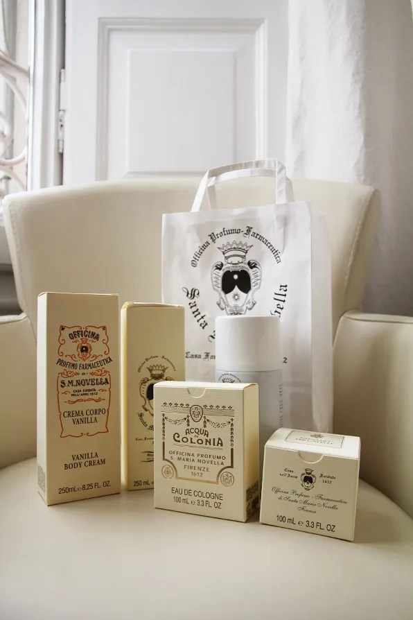 Products from Officina Profumo Farmaceutica di Santa Maria Novella, Florence