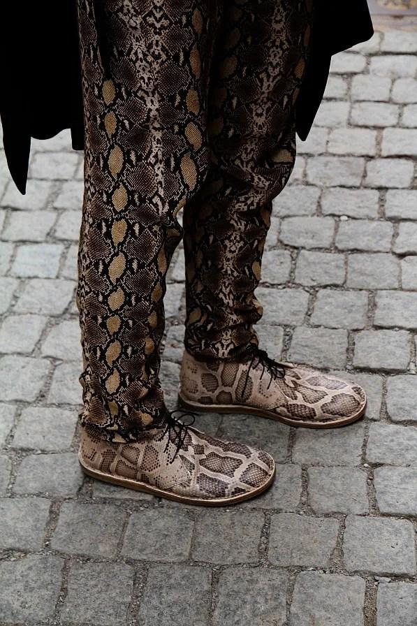 Acne snakeskin Desert boots