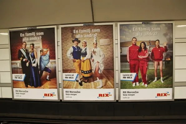 RIX MorronZoo subway ads
