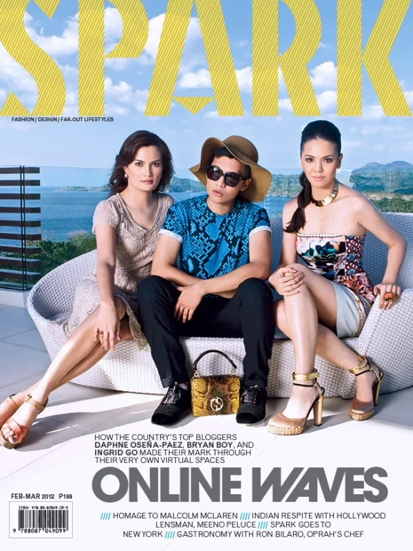Ingrid Chua Go, Bryanboy and Daphne Osena-Paez for Spark Magazine Philippines March 2012 cover
