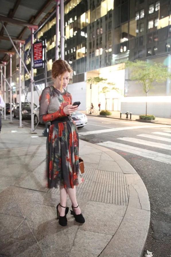 Stephanie LaCava in Dolce & Gabbana dress