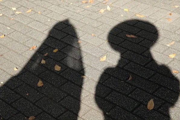 Bryanboy and Diane Pernet's shadows
