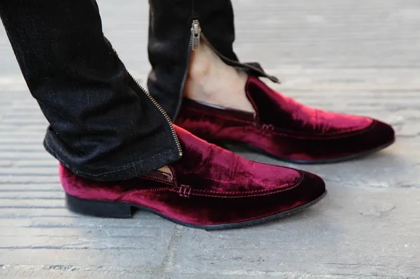 Kurt Geiger velvet shoes