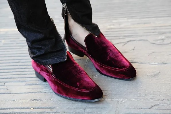 Velvet shoes by Kurt Geiger