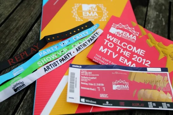 2012 MTV Europe Music Awards tickets and passes