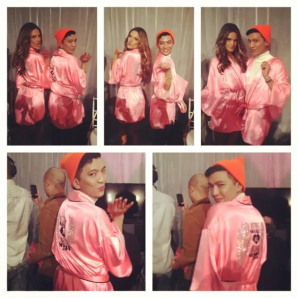 Alessandra Ambrosio and Bryanboy at Victoria's Secret Fashion Show 2012