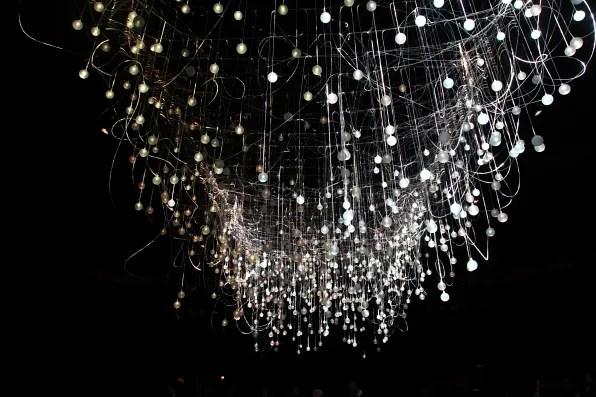 Alexander McQueen fall winter 2012 light installation