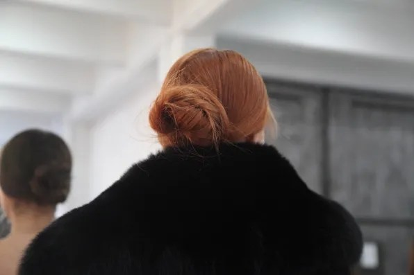Red-head bun at Alice + Olivia fall 2012