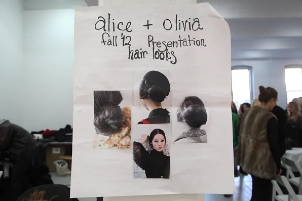 Alice + Olivia fall winter 2012 hair looks board