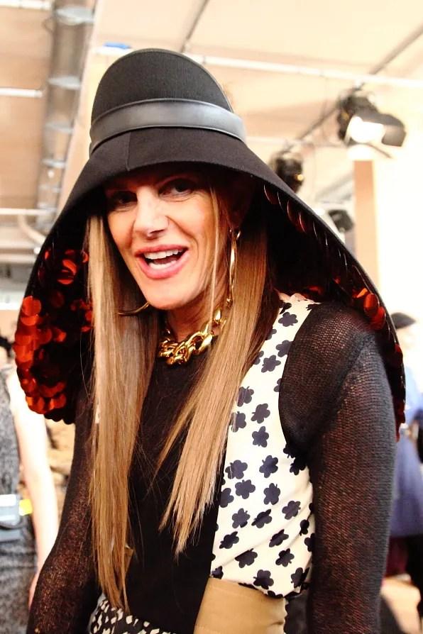 Anna Dello Russo wearing Balenciaga spring summer 2012 at Marni