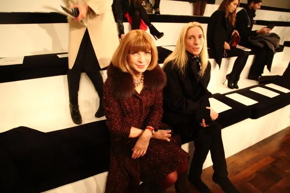 Anna Wintour at Ralph Lauren Fall Winter 2012