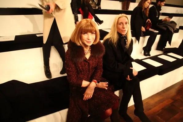 Anna Wintour at Ralph Lauren Fall Winter 2012