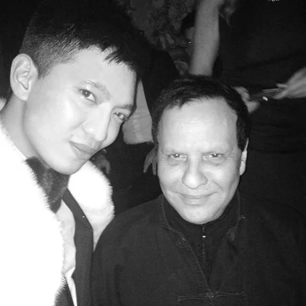 Bryanboy and Azzedine Alaia at Carine Roitfeld's Ball in Paris