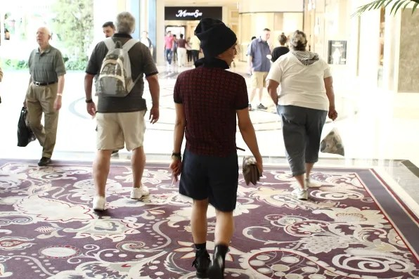 Bryanboy walking inside Bellagio Hotel, Las Vegas