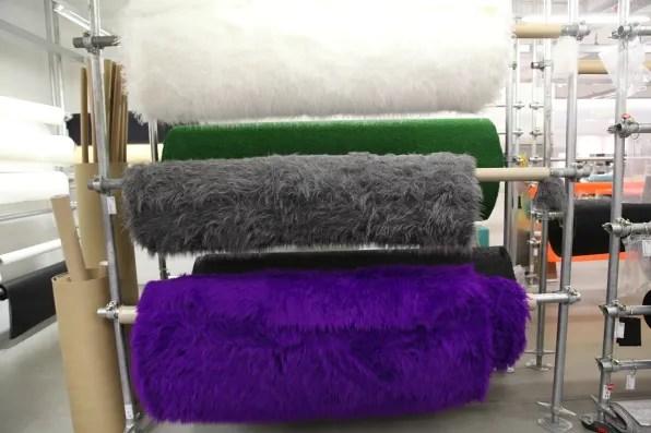 Furry fabric at Modulor Berlin