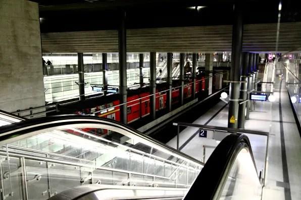 Inside Postdamer Platz train station