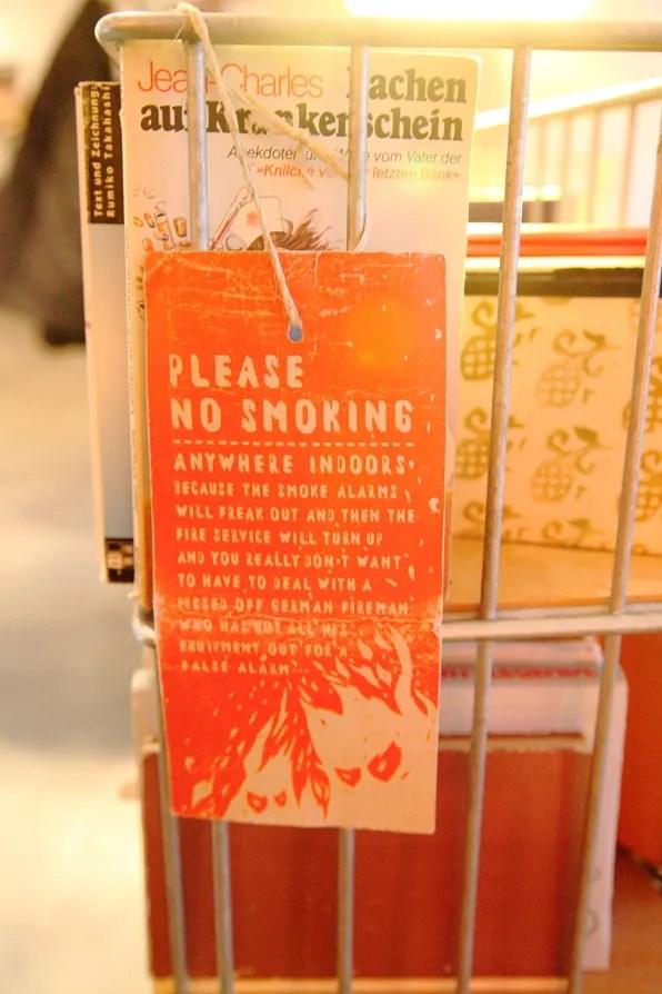 No Smoking Sign, Berlin