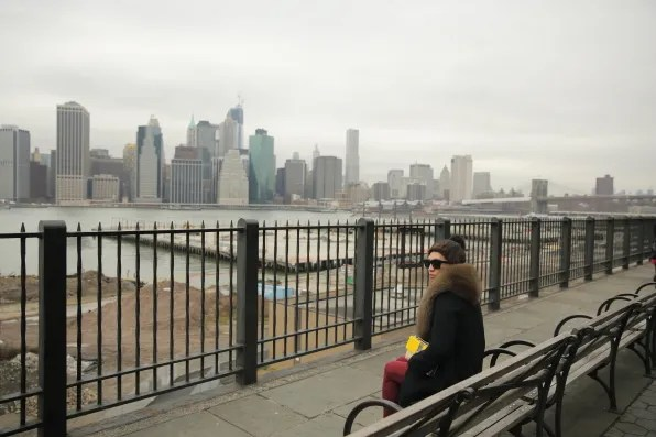 View of lower Manhattan from Brooklyn Heights