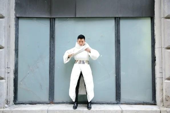 Margiela x H&M duvet coat