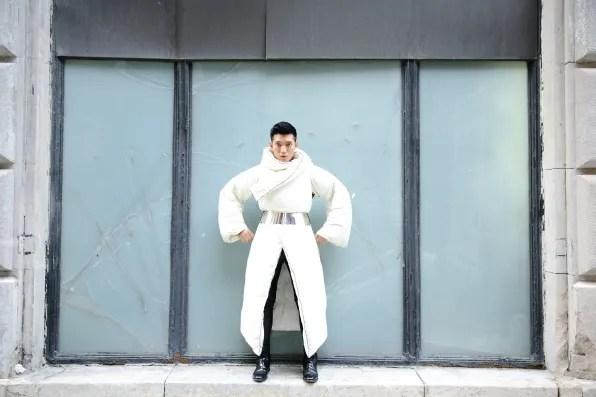 Margiela x H&M comforter coat