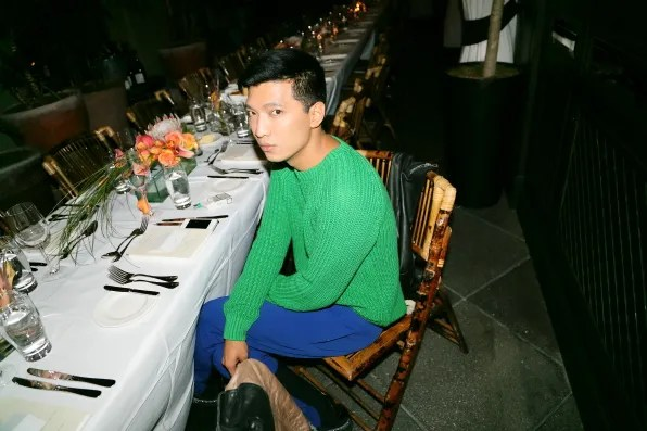 Bryanboy at Muse Magazine dinner celebrating Marina Abramovic