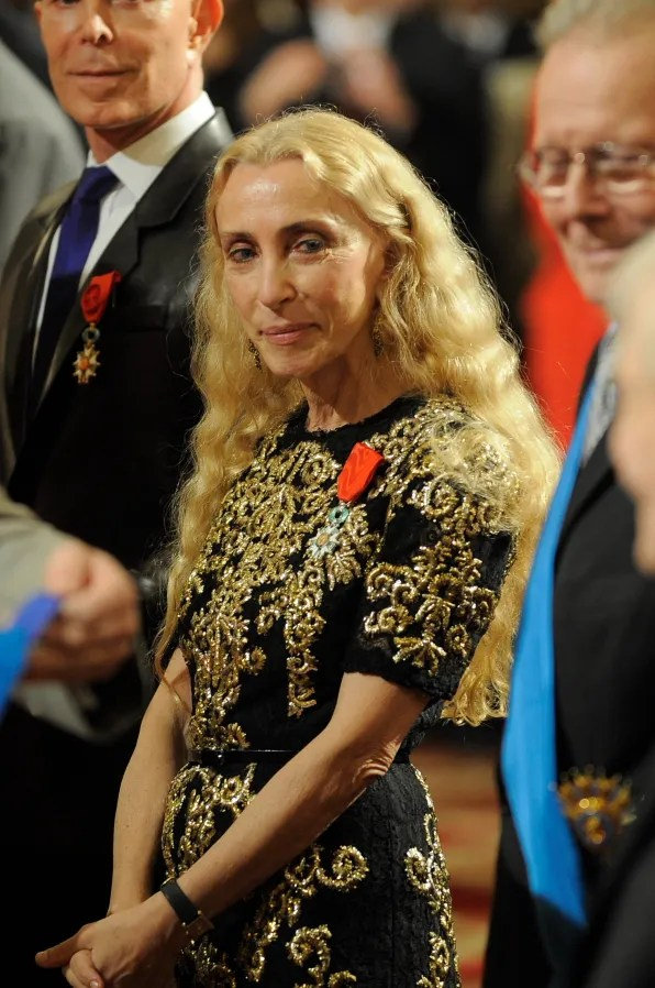 Franca Sozzani in Dolce & Gabbana dress