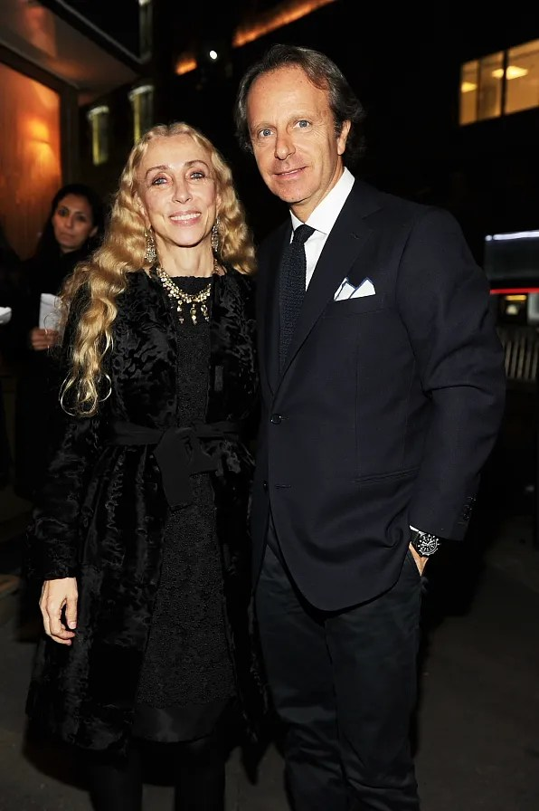 Franca Sozzani and Andrea Della Valle at Hogan dinner