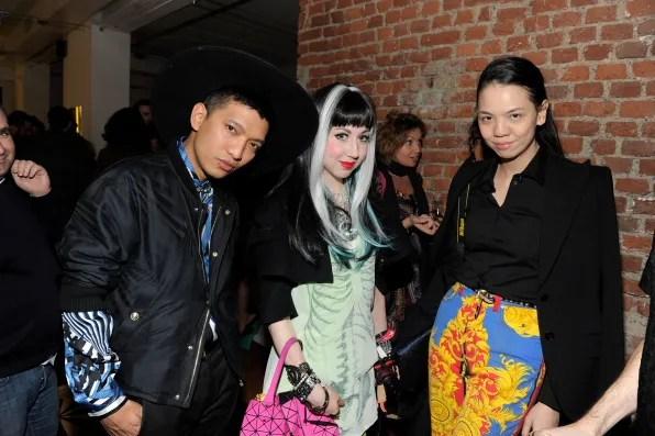 Bryanboy, Misha Janette and Ingrid Go at Furla