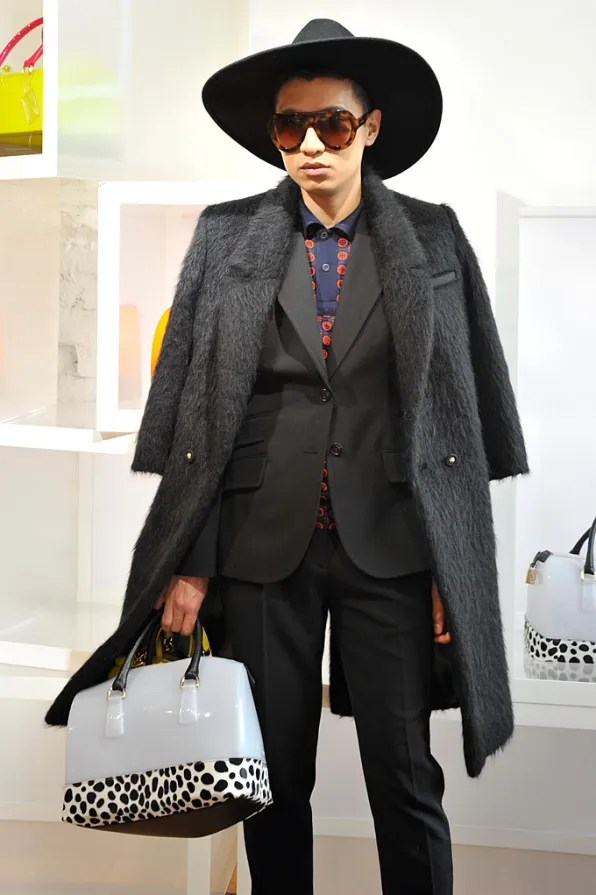 Bryanboy attending the Furla fall winter 2012 presentation