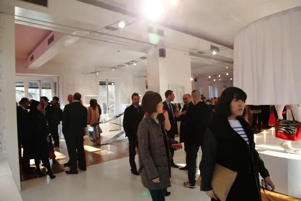 The crowd at the fall/winter 2012 Furla presentation