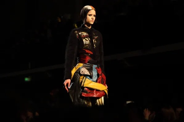 Jean Paul Gaultier Fall Winter 2012 skirt made from leather jackets