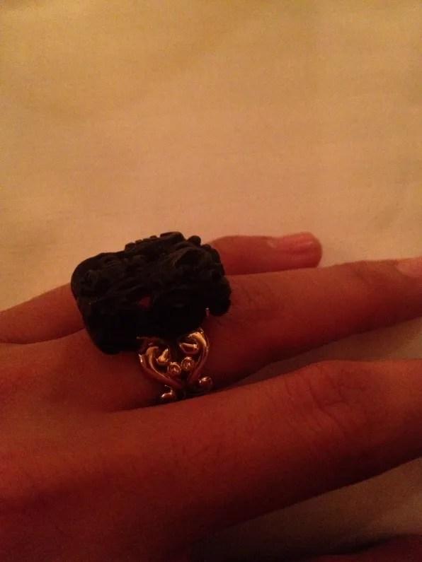 Black jade ring