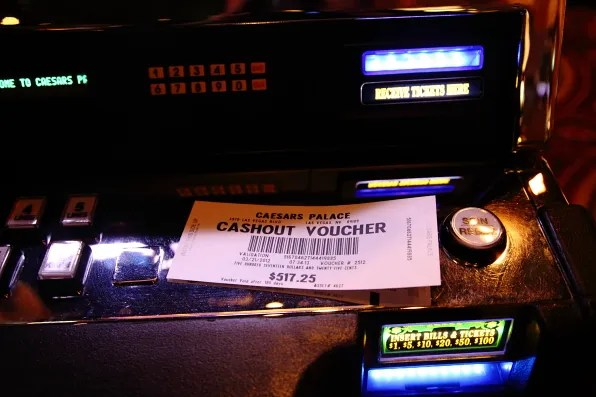 Casino Cashout Voucher at Caesars Palace