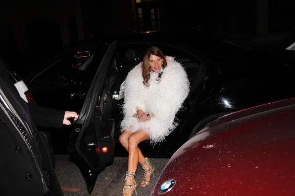 Anna Dello Russo in her car in New York