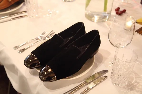 Louis Leeman Paris shoes fall winter 2012 black velvet slipper with silver cap toe