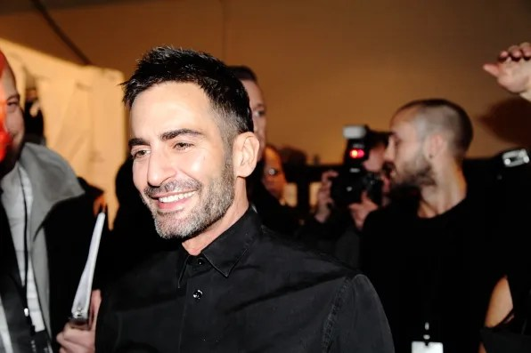 Marc Jacobs backstage at Marc Jacobs fall winter 2012 fashion show