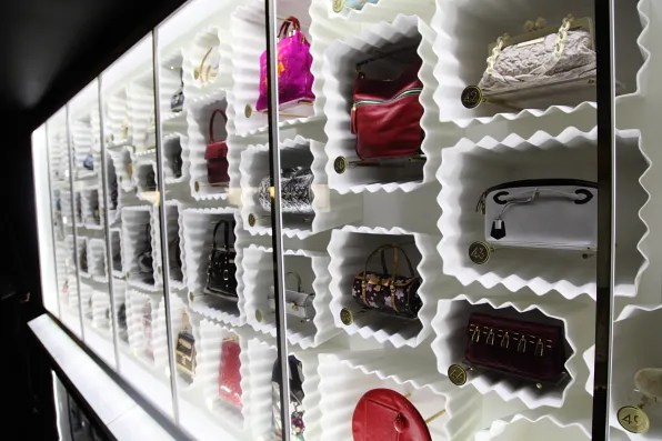 Louis Vuitton handbags at Louis Vuitton Marc Jacobs retrospective
