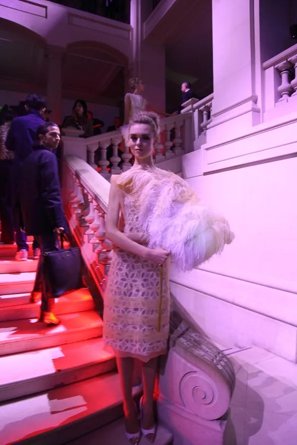 Usherette wearing a spring summer 2012 Louis Vuitton dress