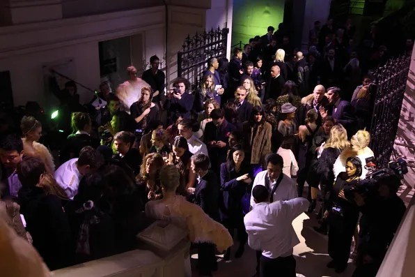 People attending the Louis Vuitton Marc Jacobs exhibition at Les Arts Decoratifs
