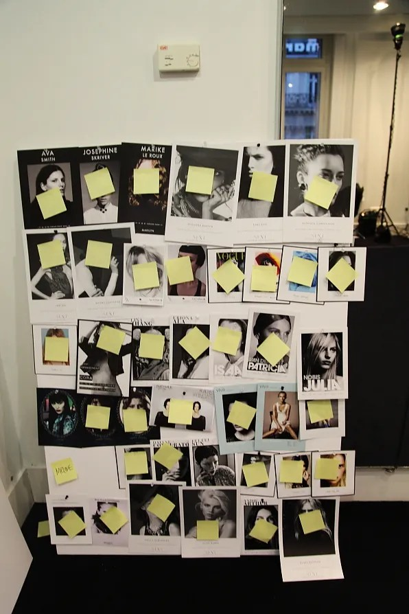Mugler models board