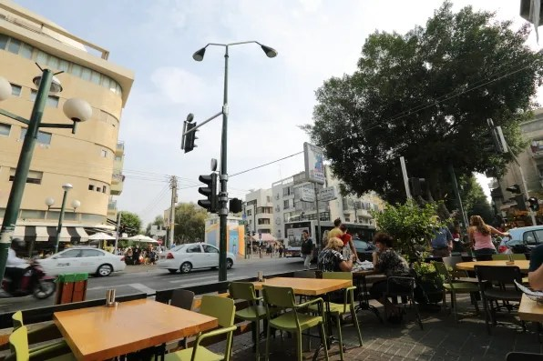 Outside Goocha cafe Tel-Aviv